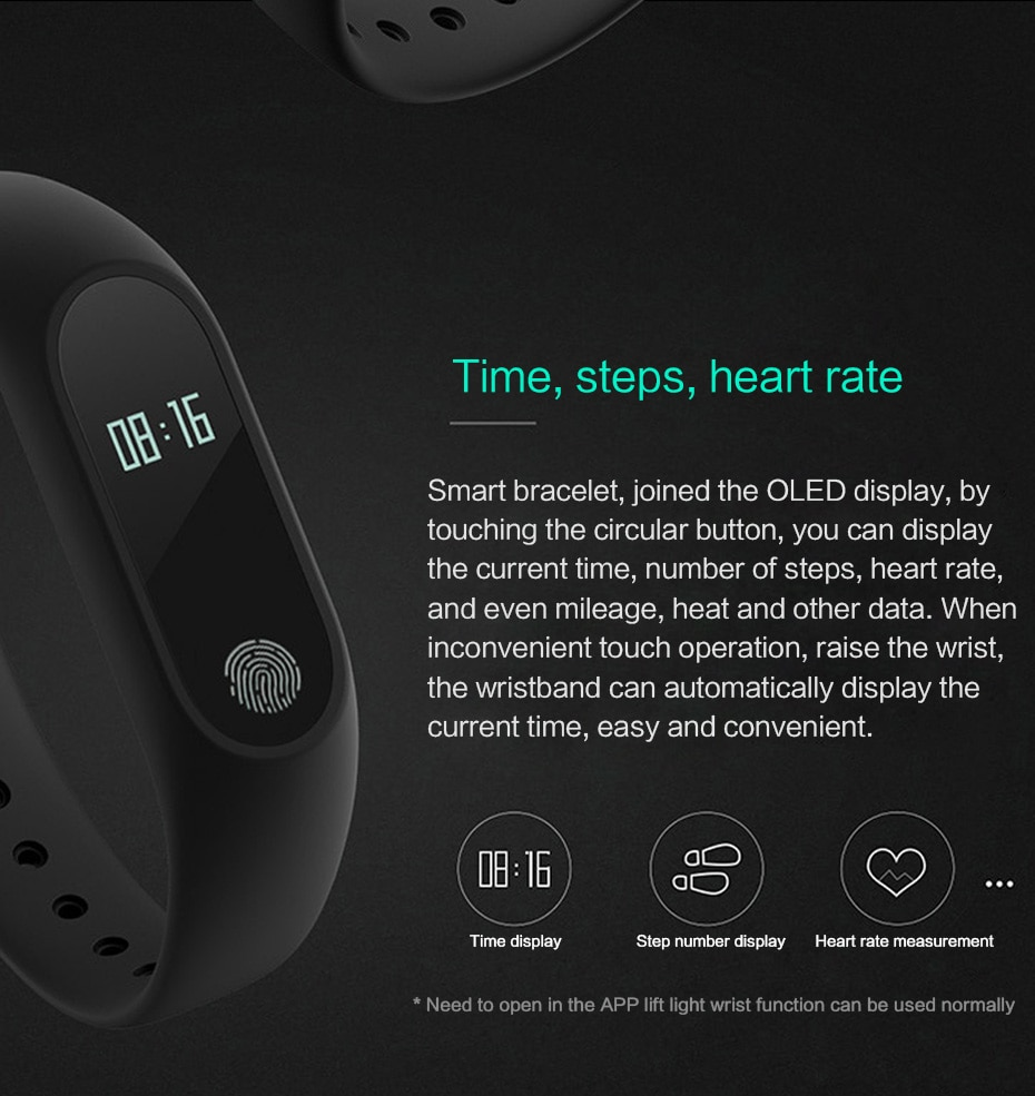 Buy M2 Activity Fitness Tracker Smart Bracelet IP67 Waterproof Heart