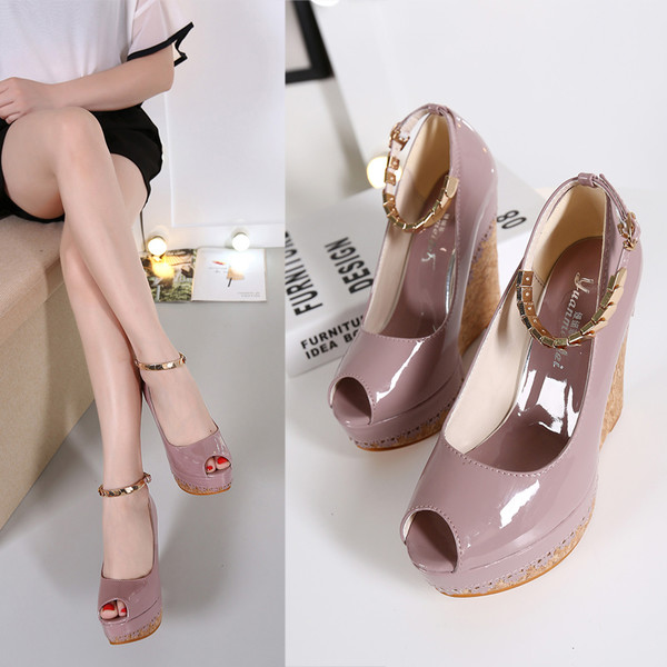 High heels shoes wedges