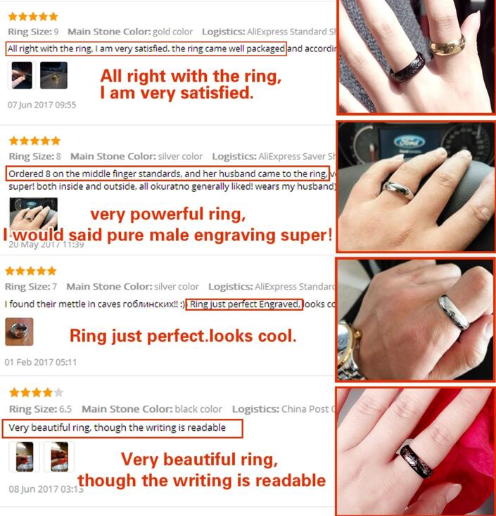 Buy Movie style high quality stainless steel men and women one ring