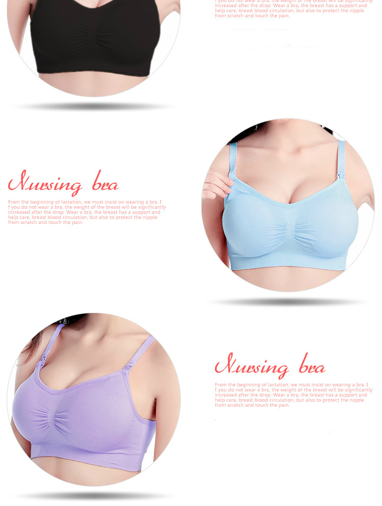 88b7669862 Buy Pregnant women without rims Adjustable gather without bra bra ...