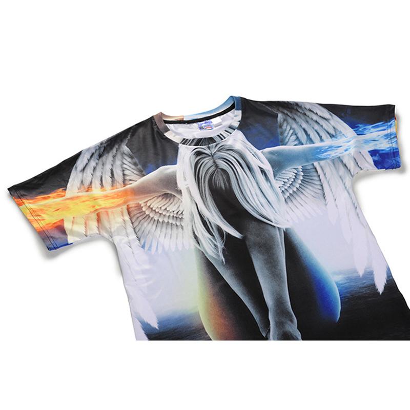 072fd40b052c Big yards New 2018 Fashion Brand T-shirt Men Women Summer 3d Tshirt Print  angel T shirt Tops Tees