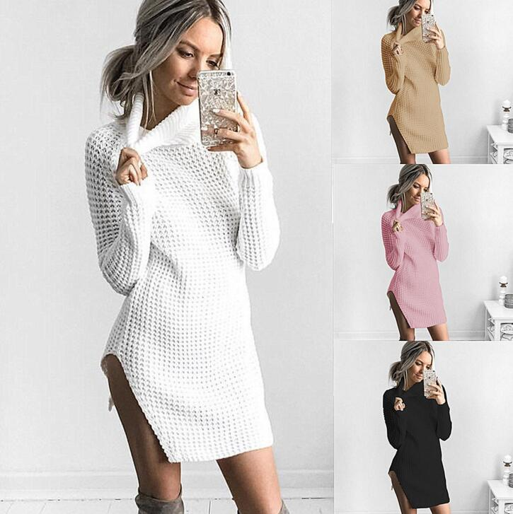 05087a543f5f Buy Women Causal Plus Size S-XL Short Sweater Dress Female Autumn ...