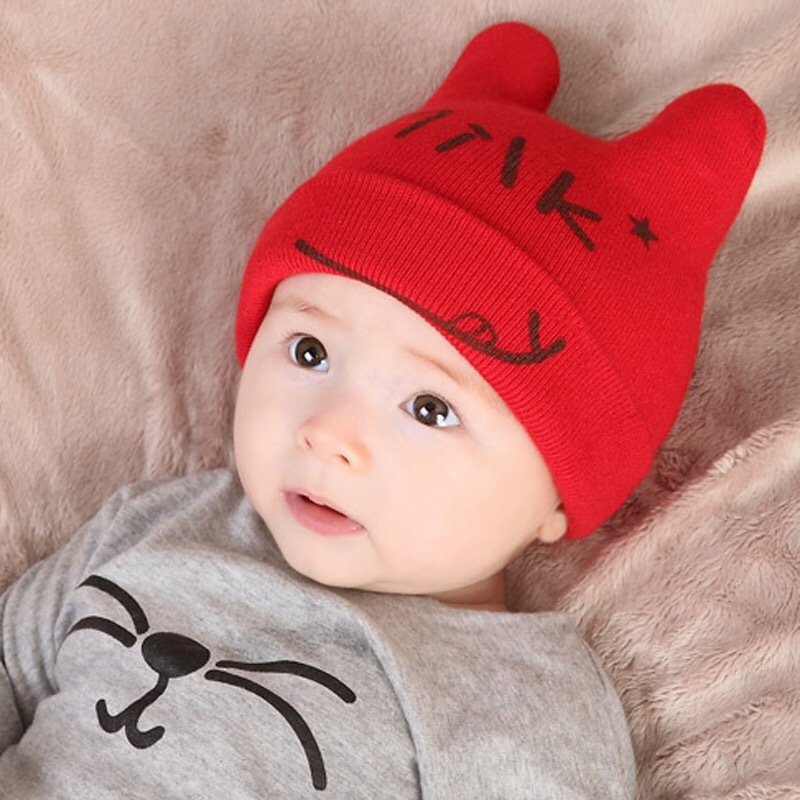 9b346158e Buy Winter Baby Pom Pom Hat Kids Bear Ear Beanie Knit Cap Boys ...