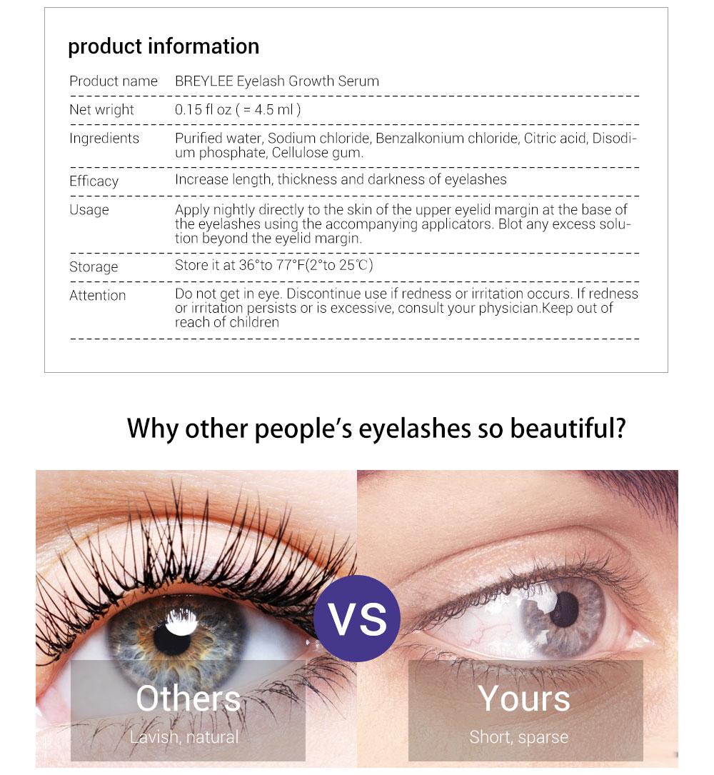 65401b4ebfa Buy BREYLEE Eyelash Growth Serum New Style Eyelash Enhancer Eye Lash ...