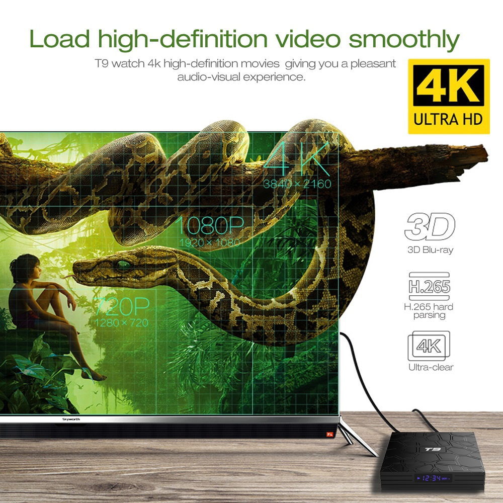 Buy VONTAR T9 Smart TV Box Android 8 1 SUNVELL T9 4GB 32GB 64GB