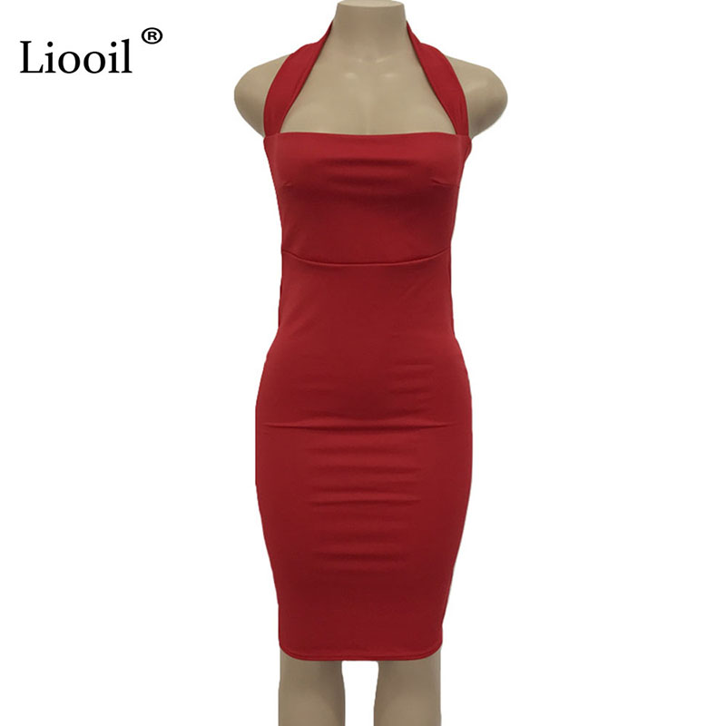 5af466cdd6 Buy Liooil Sexy Summer Dress Woman's Fashion 2019 Sleeveless ...