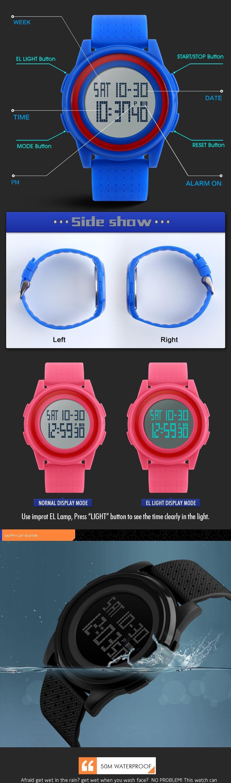 bfc29cb1cb4 SKMEI Men Women LED Digital Wristwatches Relogio Masculino Feminino  Waterproof Sport ultra thin Fashion Simple Dial Mens Watches