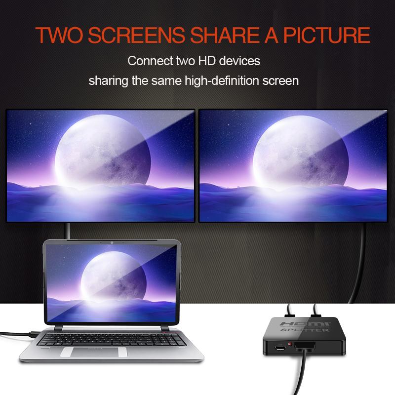 Buy HDMI 1 in 2 out 1080p 4K 1x2 HDCP Stripper 3D Splitter