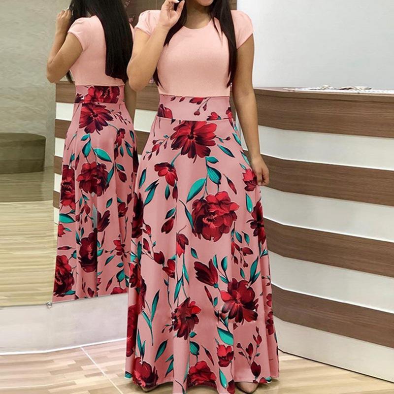 339b8c5a4d22a Buy Laamei 2019 Women Dress Boho Print Sexy Vintage Female Floral ...