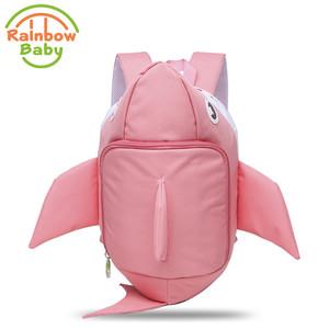 5e05d9f6fd Children Girl backpack kindergarten 3D Model Shark Pattern Style Kids    infant Bags anti lost School Bags Waterproof Backpack