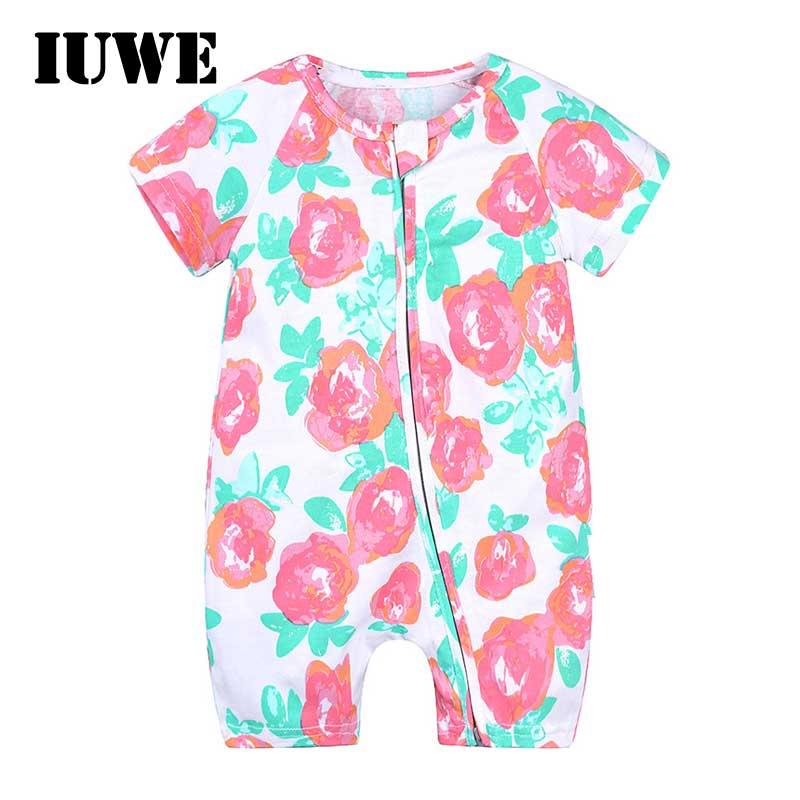 f6bdb7b32603 Buy Newborn Baby Girls Short Sleeve Jumpsuits Infant Toddler Clothes ...