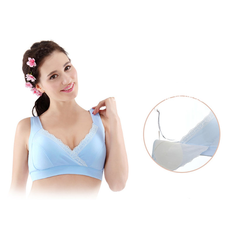f7ecbc2fb8463 Buy For Pregnant Women Soft Bra Nursing Vest Type Bra Wireless ...