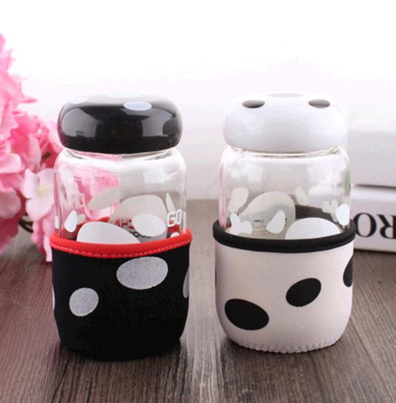 Buy Thermal cup cartoon mushroom glass cup cloth heat insulation Cup
