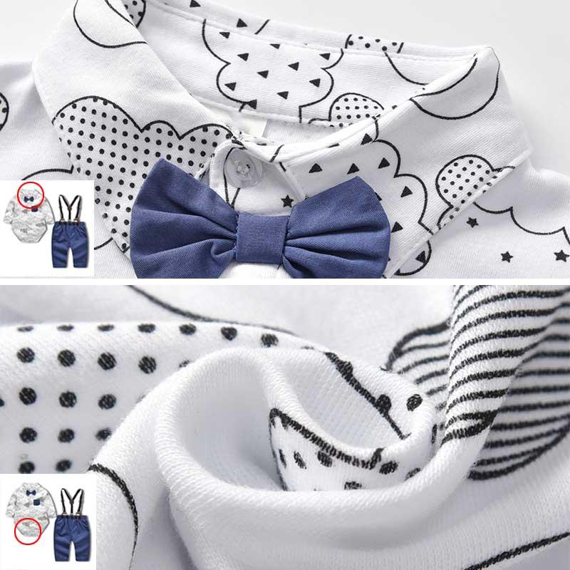 49bd09a0f Buy Autumn Boy Sets 3Pcs 2018 New Kids Short Sleeves Gentleman Bow ...