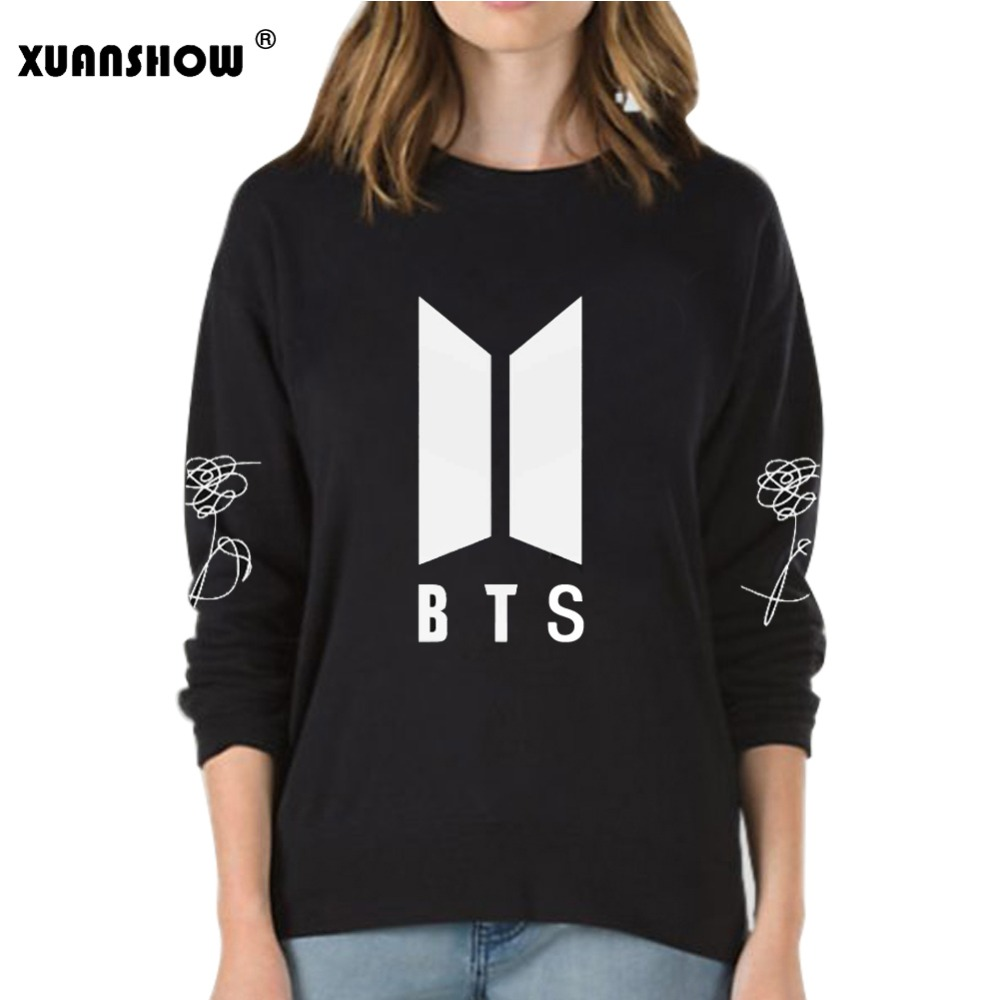 debf08b2ef00 XUANSHOW 2018 New BTS Bangtan Boys Kpop Album Love Yourself Answer Fans  Clothing Casual Letters Printed Pullover Tops. 1. size. xuanshow