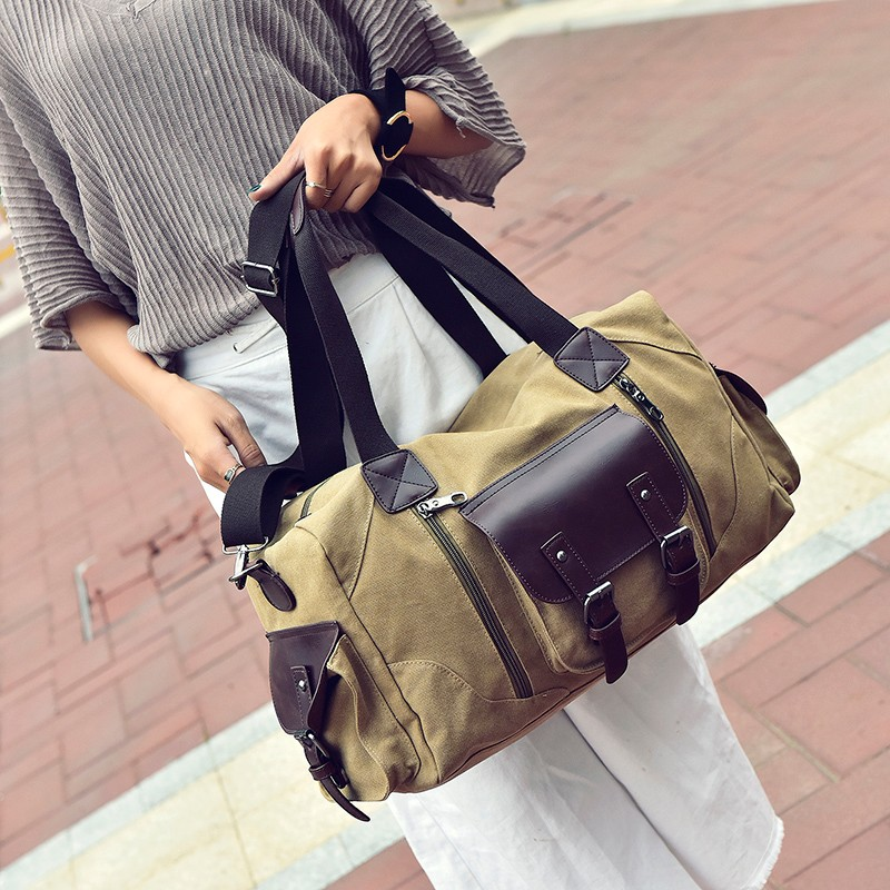 0dbee3f6b2 Famous Brand Men Vintage Canvas Men Travel Bags Women Weekend Carry On  Luggage   Bags Leisure