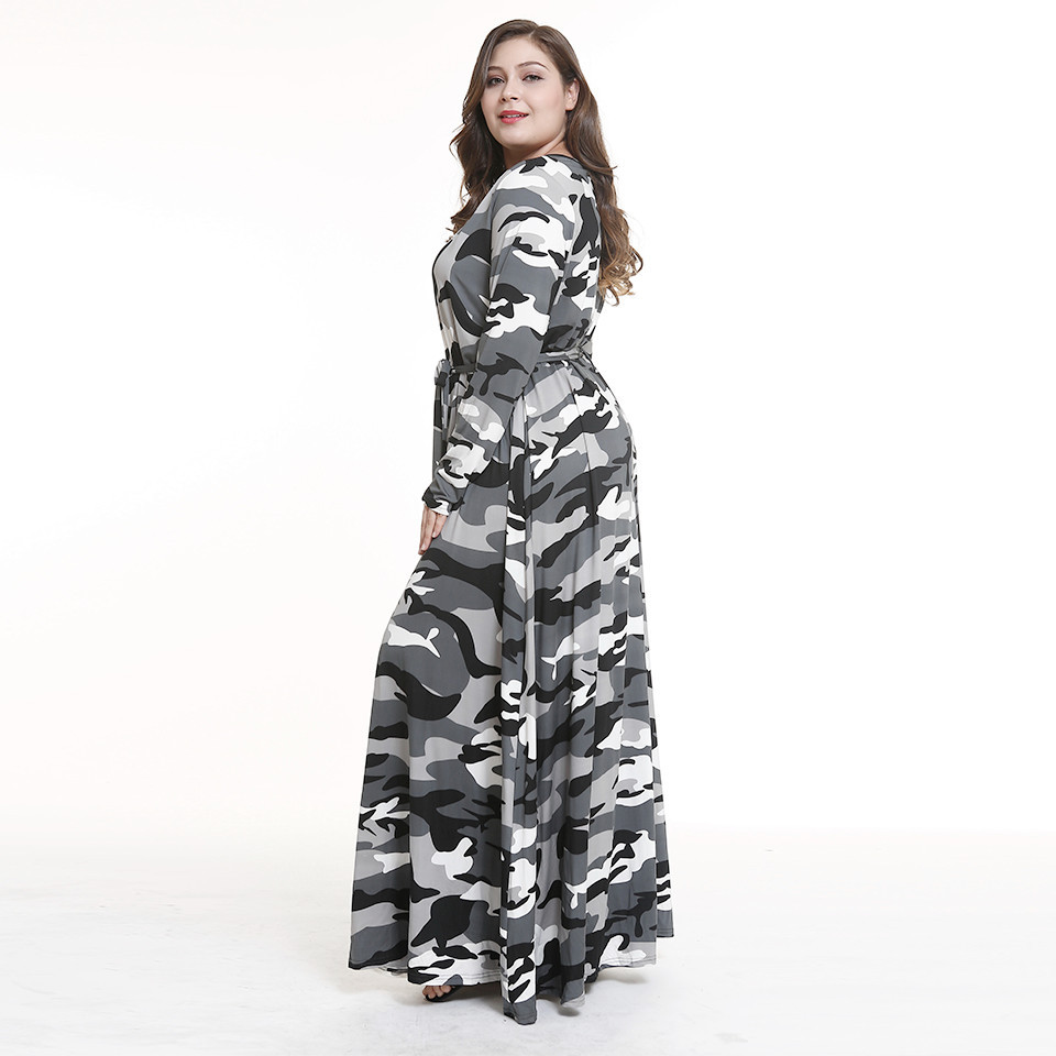 Buy Wome Camouflage Big Size Dress 2018 Hot New Europe And The ... a3a1183daf20