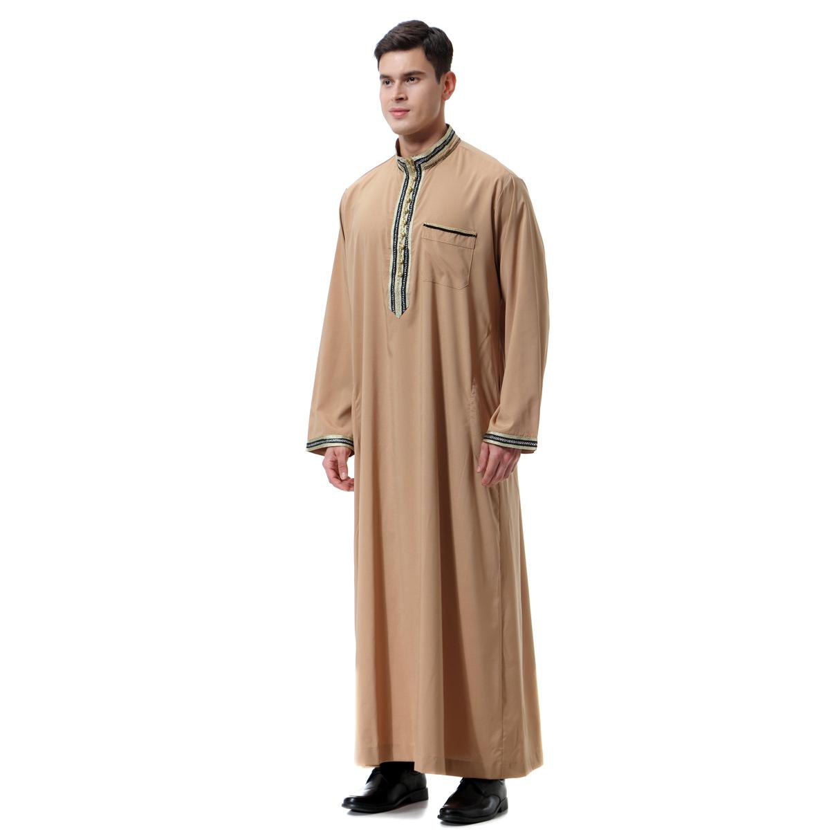 75a6dbf17da66 Buy Muslim man abaya 2018 turkish dubai robes caftan arabic islamic ...