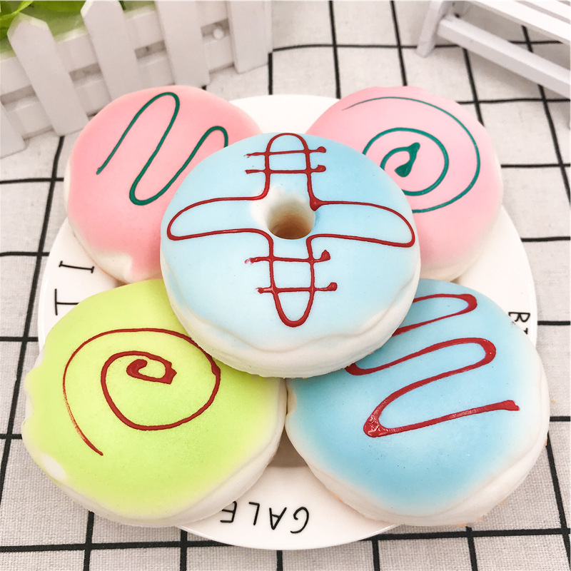 Kawaii Soft Squeeze Cell Phone Strap Scented Bread Cake Stretchy Toy Gift Cute Simulation Bread Donut Squishy Slow Rising Buy Now Mobile Phone Straps