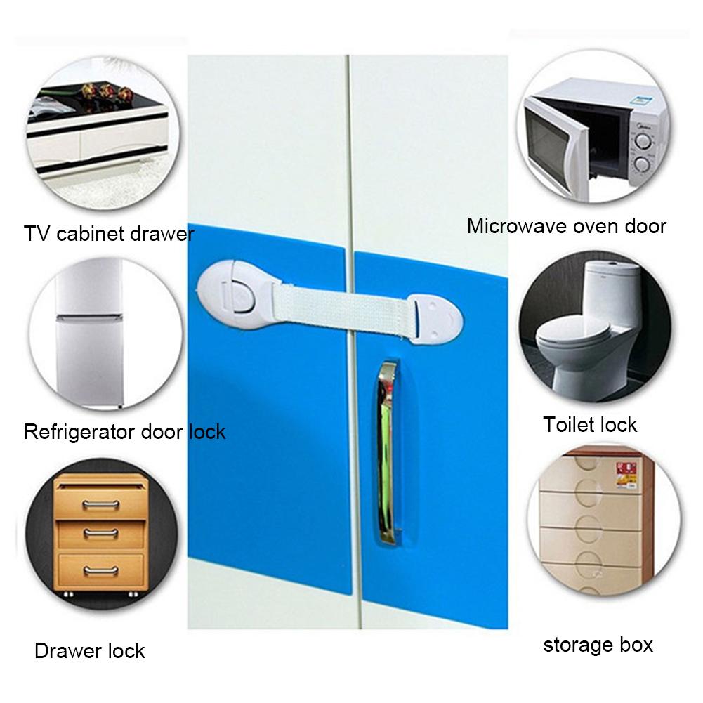 Cabinet Toilet Kids Security Latches Wardrobe Safety Lock Cupboard Lockstitch