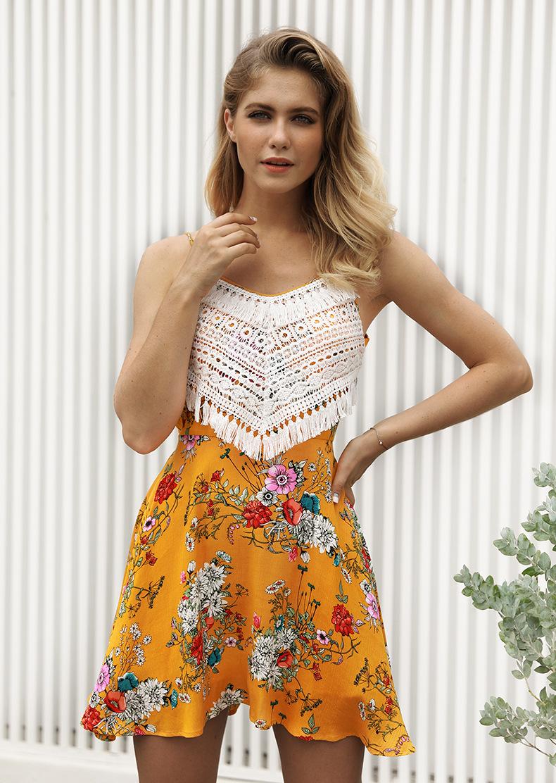 9d1d75b49362ff Buy 2018 summer women s new sexy sleeveless print dress