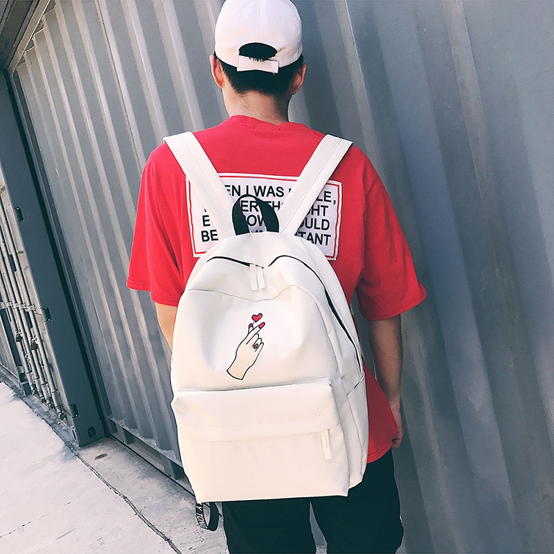 ff2e0bb09f9b Men Canvas Backpack Cute Fashion Women Rose Embroidery Backpacks for Teenagers  Women  s Travel