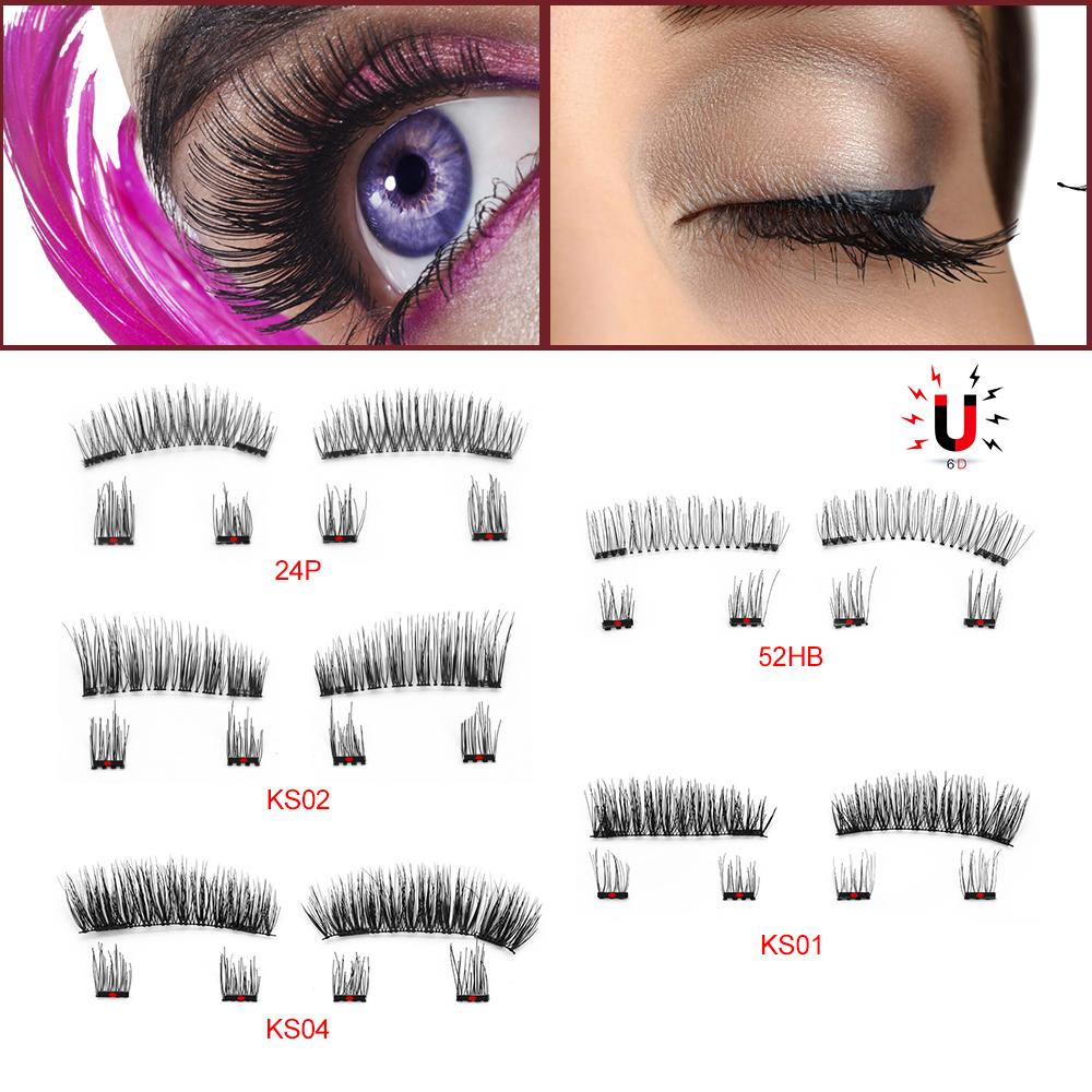 e10a8628744 Buy 6Pcs Magnetic Eyelashes Invisible Magnetic Lashes Mink Eyelashes ...