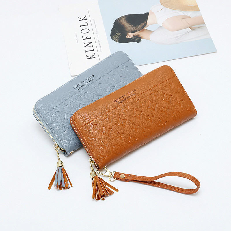 Buy New Embossed Ladies Wallet Zipper Large Capacity Handbag