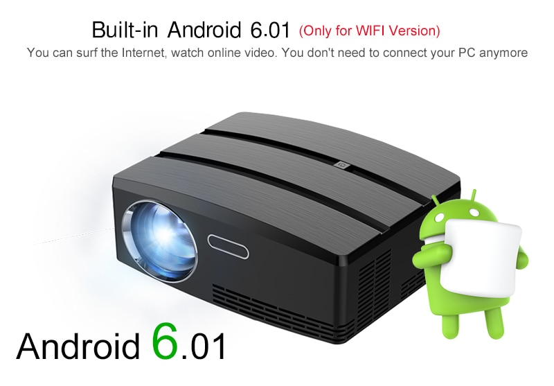 Buy Android Projector Android 6 01 4K/2K WIFI Bluetooth Full HD LED