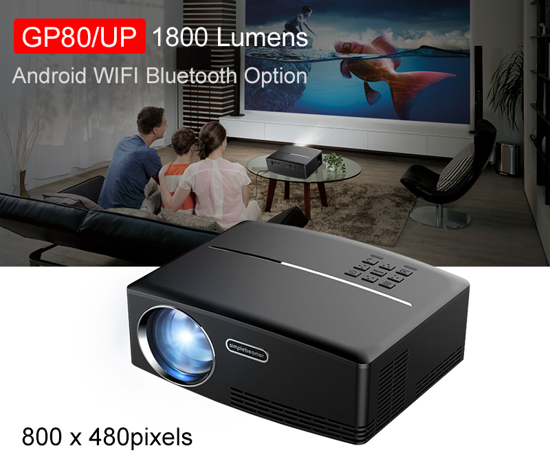 Buy Android Projector Android 6 01 4K/2K WIFI Bluetooth Full
