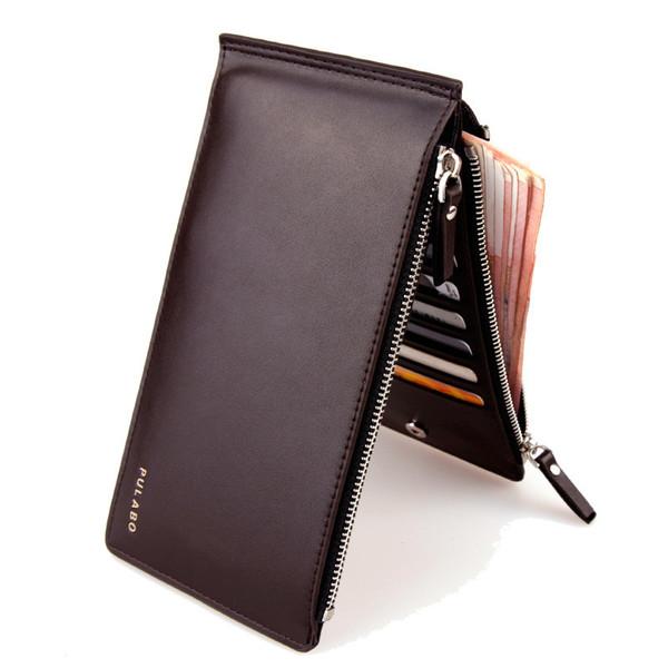 7e1283a0da0b Buy 2017 Leather Men Wallet Clutch Double Zipper Credit Card Bifold ...