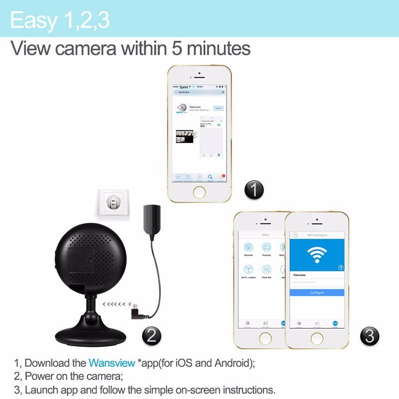 Buy Wanview 720P 1 0MP Mini WI-FI ip Camera Wireless For Baby