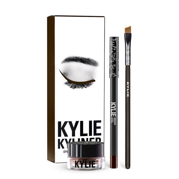 4c9af2129b3 Kylie makeup KYLINER KIT eyeliner gel, eyeliner paste, eyeliner cream ,  eyeliner pencil , eye shadow brush, 2 color eyeliner, in stock
