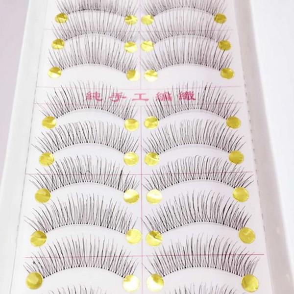 ddd0796cd89 10 Pairs New False Eyelashes Handmade Black Long Thick Natural Fake Eye  Lashes Extension Makeup Beauty Tools