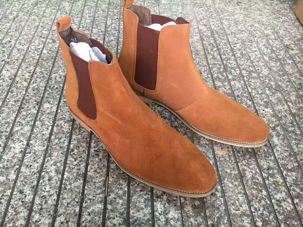 a4d6e61a73c Buy 2017 chelsea boots kanye west fashion style genuine suede ...