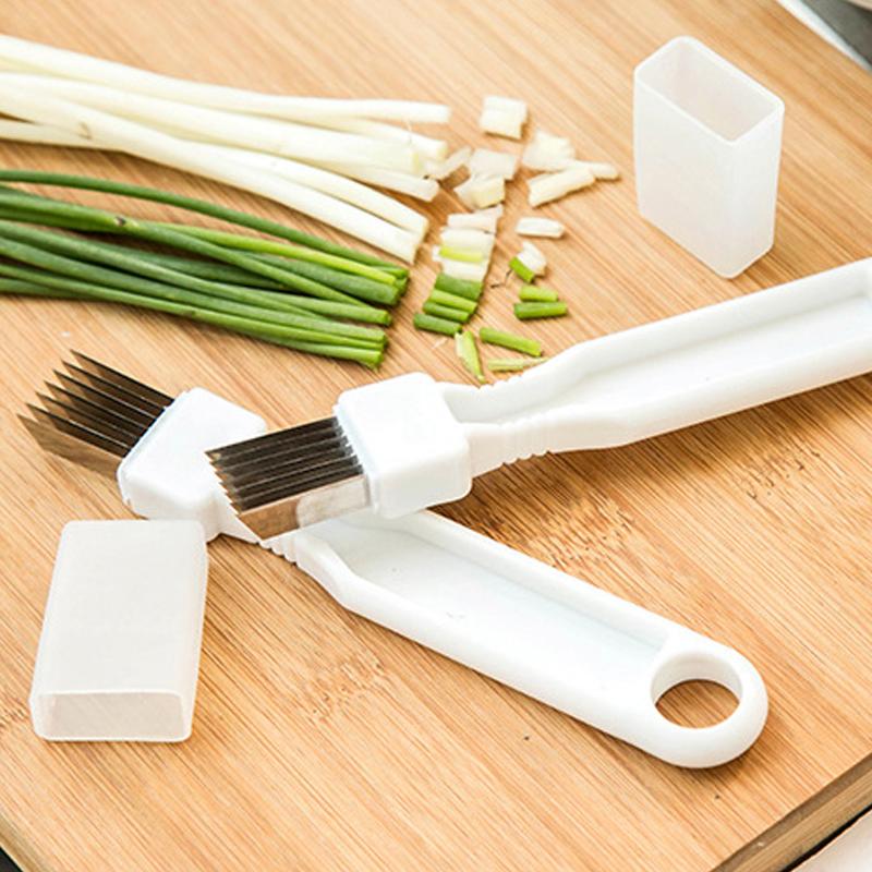 Fruit Kitchen Vegetable Slicer Onion Shredder Scallion Cutter Stainless Steel
