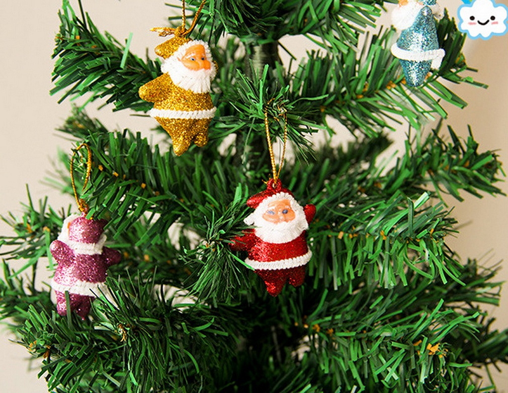 6pcs Multi-Color Christmas Tree Decor Santa Claus Party Ornaments Xmas Gift