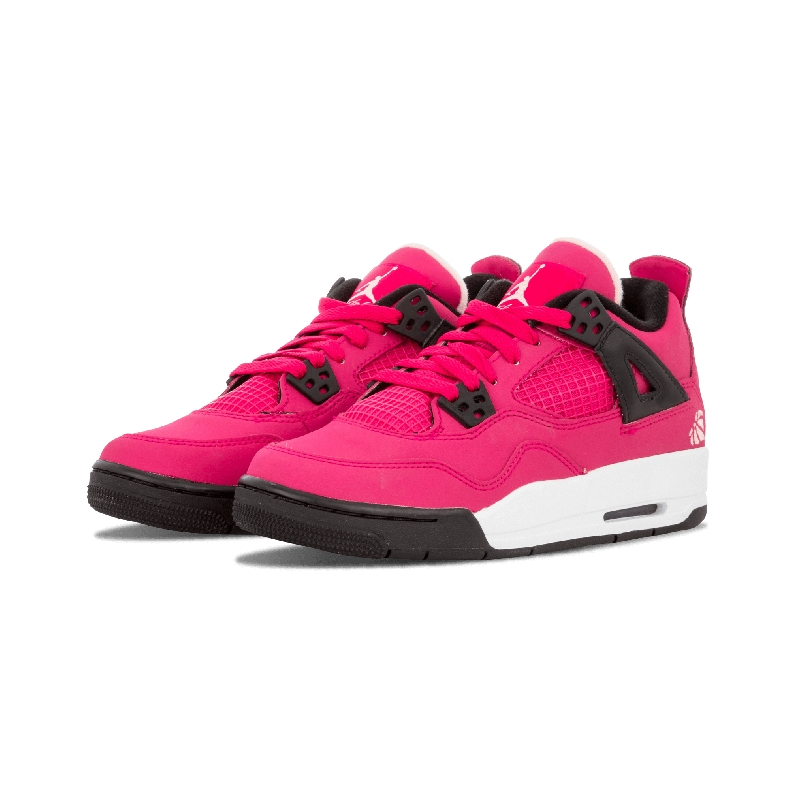 half off 42c42 fe758 ... Jordan 4 just for the young lady Air Jordan fans features a vibrant Voltage  Cherry upper with white and black accents, all completed with a  heart-shaped ...
