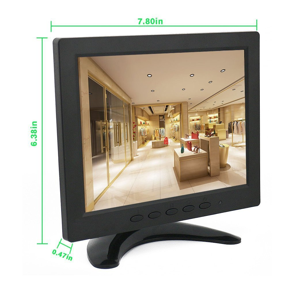 Buy CCTV Monitor 8 inch TFT LCD Color Screen with 2 Speakers