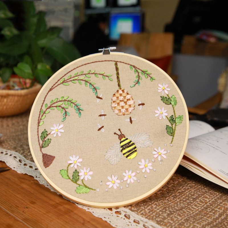 Wooden Cross Stitch Machine Embroidery Ring Hoop Bamboo Sewing 13-27cm New
