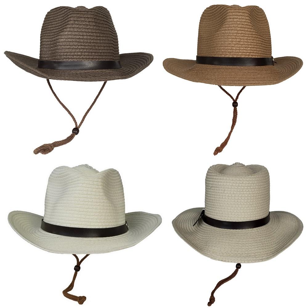 COMVIP Children Star Straw Summer Wide Brim Beach Hat with Chin Strap