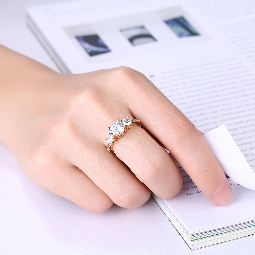 Buy Fashion Gold /Silver Beautiful Bride Wedding Rings 30% Silver ...