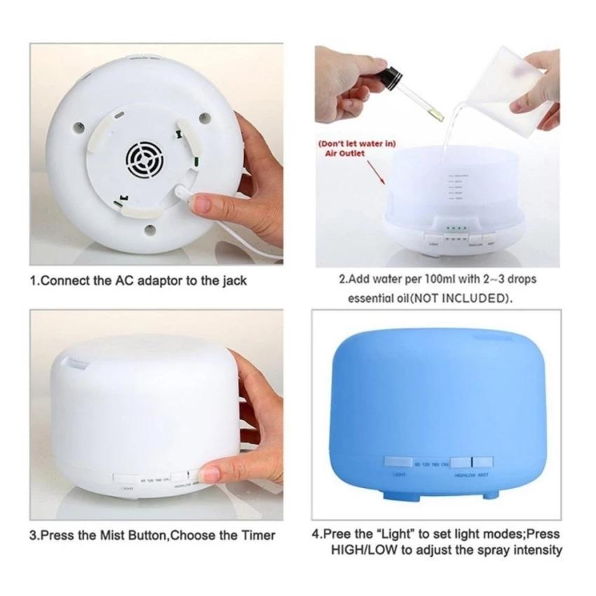 Buy 500ml Ultrasonic Air Aroma Cool Mist Silent Humidifier