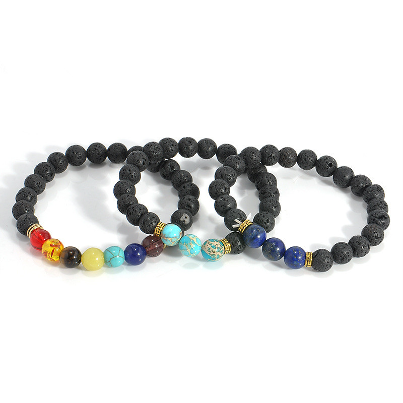 stone women bracelet colorful crystal natural bracelets jewelry product energy store for volcano lava wholesale beads
