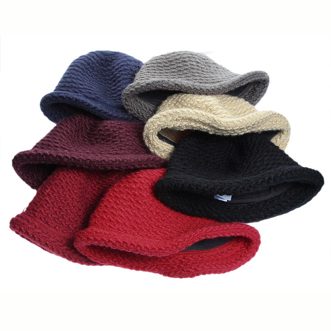 68400d6a435 Buy COMVIP Womens Winter Warm Crochet Knitted Short Brim Bucket Hat ...