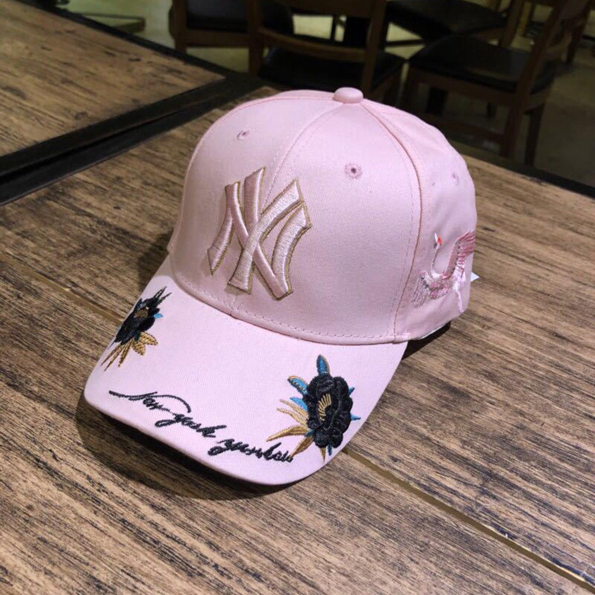 6fcee3a56 Buy Mlb Baseball Cap Ny Hat New Rose Crane Embroidery Black Khaki ...