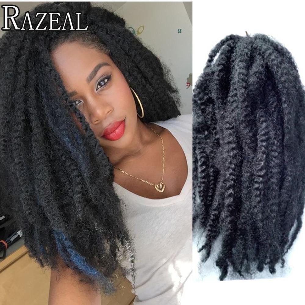 Buy Razeal 4packs 100g Synthetic Marley Braids Crochet Hair Afro