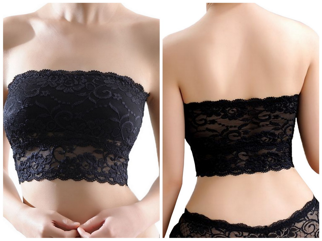 55299d8dcd Buy Ladies Girls Wire Free Lace Bra Bandeau Strapless Padded Boob ...