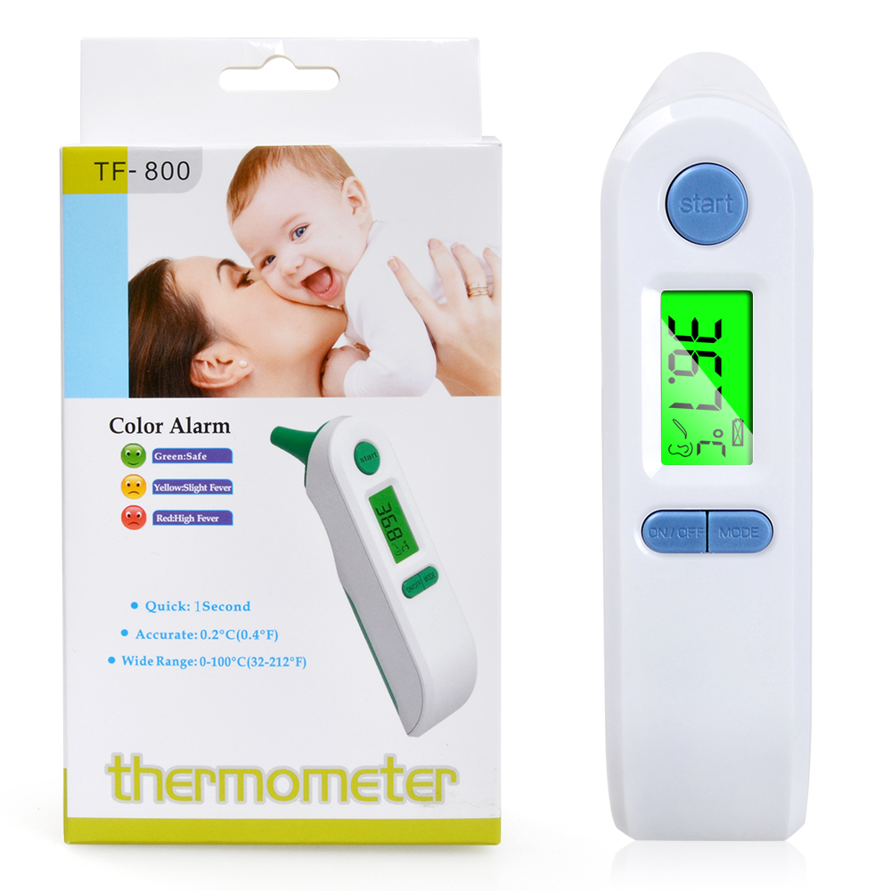 Baby Digital Lcd Infrared Non-contact Ear & Forehead Laser Body Temperature Baby Adult Medical Fever Thermometer Fixing Prices According To Quality Of Products Measurement & Analysis Instruments