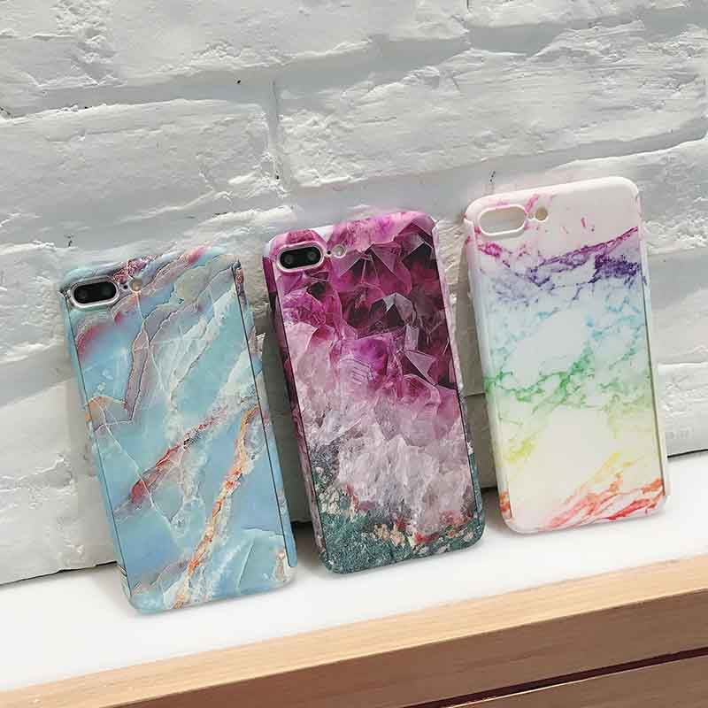 Buy Korea style hard phone case for iphone 6 6s Plus half cover for